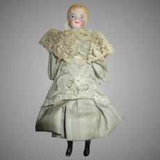 Antique Doll House Doll in Elegant Dress