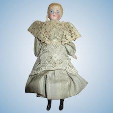 Antique Doll House Doll in Elegant Dress