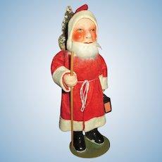 Vintage Composition Santa