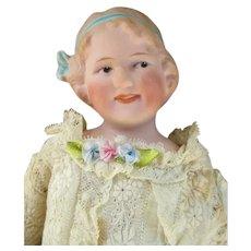 Antique Heubach Coquette Bisque Head Doll