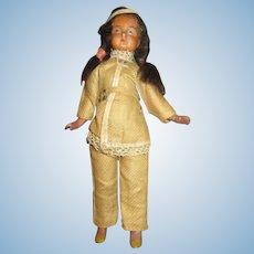 Antique Bisque Head Indian Doll - All Original