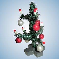Vintage Miniature Doll House Christmas Tree