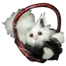 Kitty in Basket For Your French Fashion Doll