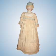 Pretty Blond Bonnet Head Doll
