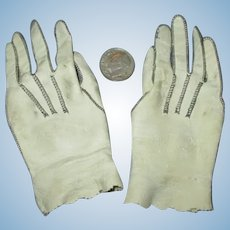Antique Leather Doll Gloves