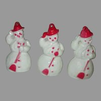 Vintage Miniature Snowmen for Your Doll House Dolls