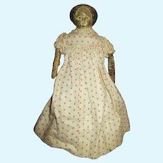 Sweet Early Paper Mache Head Doll