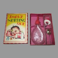 Vintage Doll's Nursing Set for Your Baby Doll