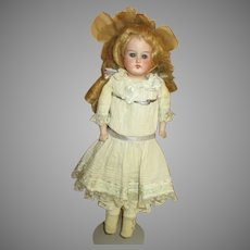Sweet Antique Bisque Head Doll with Darling Expression