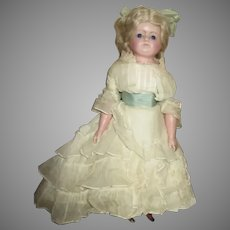 Breathtaking Antique Wax Over Doll - Museum  Deaccession Piece