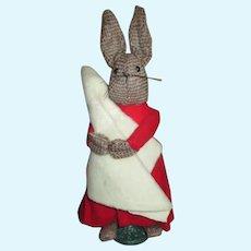 Artist Marilyn Fowler Folk Art Artist Bunny Doll