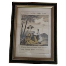 Cute Framed Print of Girl with Doll