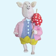 Adorable Pink Pig Artist Doll