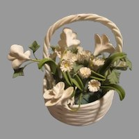 Miniature Flower Basket for Your Antique Doll