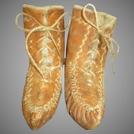 Antique Leather Doll Boots - Perfect for Primitive Doll
