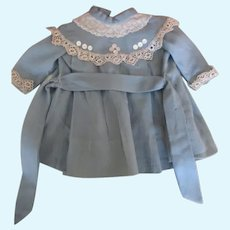 Adorable Blue Dress for your Antique Doll
