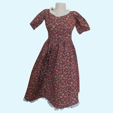 Vintage Cotton Dress for your China Head or Paper Mache Head Doll
