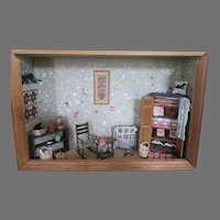 Doll House Room Box Sewing Room