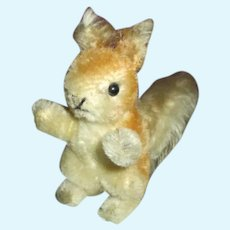 Adorable Small Mohair Squirrel for Your Doll's Companion
