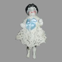"Cute 4.5"" Heavy China Frozen Charlotte"