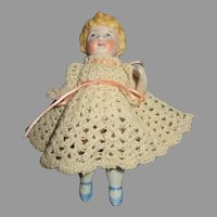 Adorable All Bisque Miniature German Doll