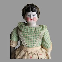 Sweet China Head Doll in Pretty Outfit