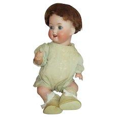"Adorable 12"" Heubach 300 Bisque Head Baby Doll"