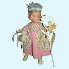 Vintage R&B Arranbee Little Bo Peep Doll with Sheep