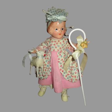 Vintage R&B Arranbee Little Bo Peep Doll with Sheep