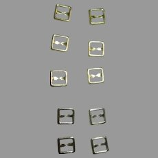 Shoe Buckles for Your Antique Doll's Shoes - Silver and Gold