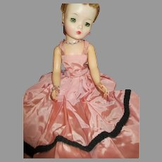 Vintage Pink Dress and Jewelry for Your Cissy Doll