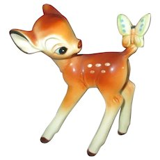 Adorable Vintage Disney Bambie Figurine