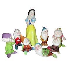 Adorable Vintage Disney Snow White and Seven Dwarfs Figurines