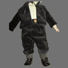 """Cute Outfit for Your Antique 14"""" Boy Bisque Head Doll"""