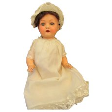 Adorable Heubach 320 Painted Bisque Head Baby Doll