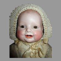 Antique German Bonnie Babe Bisque Head Doll