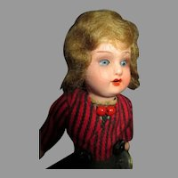 All Original German Painted Bisque Head Doll