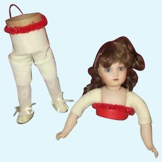 Vintage Artist Made Doll Candy Container