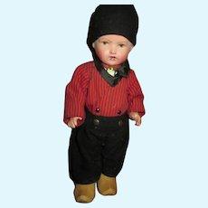 Adorable Vintage All Original Dutch Boy Doll