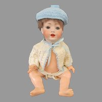 Adorable Antique Bisque Head Baby Doll