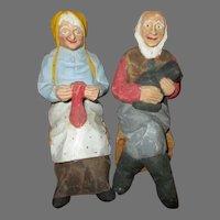 Folk Art Carved Dolls