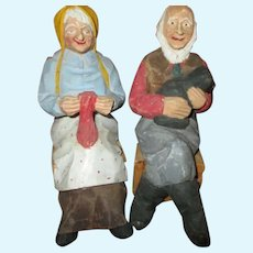 Folk Art Carved Dolls