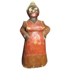 Unusual Carved Folk Art Wooden Doll