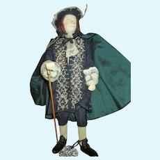 Unusual Sculpted Artist Doll