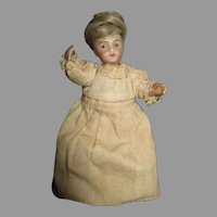 "Tiny 4.5"" French Bisque Head Doll"