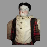 Antique China Head Boy Doll
