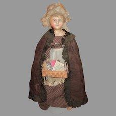Antique English Wax Peddler Doll