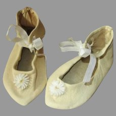 Pretty Leather Shoes for Your Antique Doll