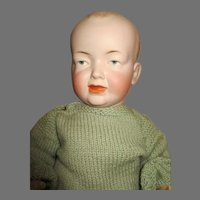 Adorable Kley & Hahn 525 Bisque Head Baby Doll
