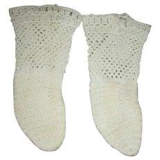 Cotton Crocheted Doll Socks